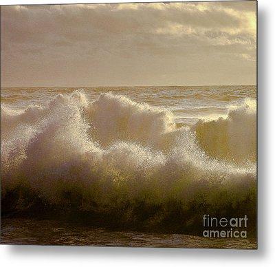 Sunset Storm Surf Metal Print