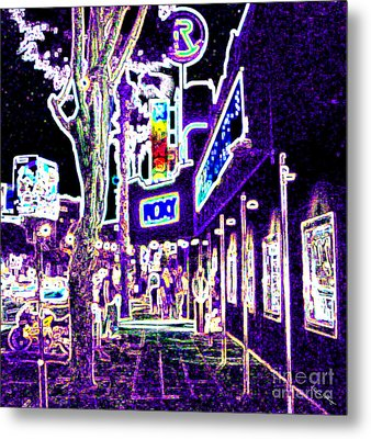 Sunset Strip - Black Light Psychedelic Metal Print