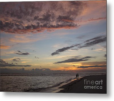 Sunset Stroll Metal Print by Elizabeth Carr