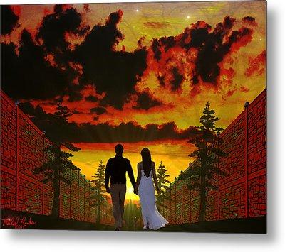 Sunset Stroll Metal Print by Michael Rucker