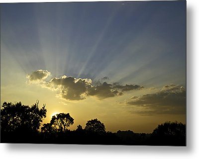 Sunset Sunrays Metal Print