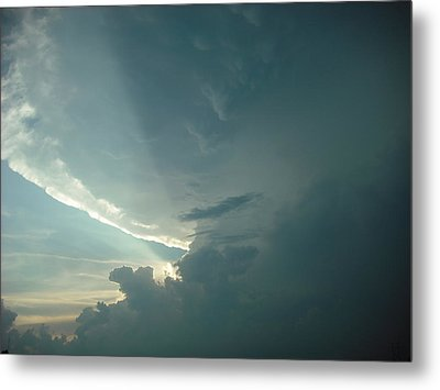 Sunset Supercell Metal Print by Ed Sweeney