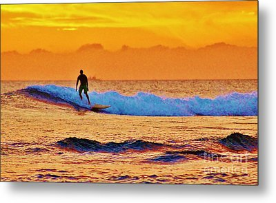 Sunset Surf Metal Print by Craig Wood