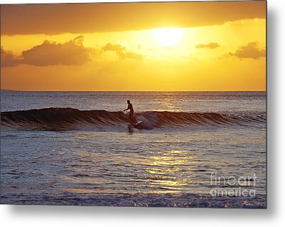 Sunset Surf Maui Metal Print