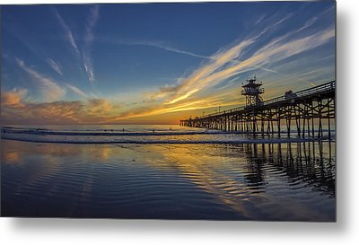 Sunset Surf Metal Print by Sean Foster