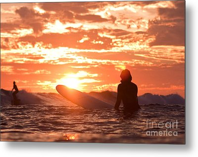 Metal Print featuring the photograph Sunset Surf Session by Paul Topp