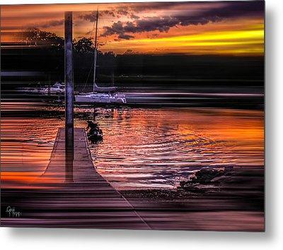 Metal Print featuring the photograph Sunset Swirl by Glenn Feron