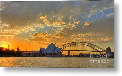 Sunset Sydney Harbour - Australia Metal Print
