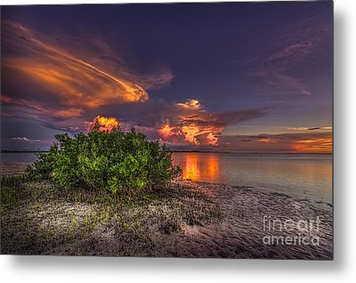 Sunset Thunder Storms Metal Print by Marvin Spates