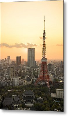 Sunset Tokyo Tower Metal Print by For Ninety One Days
