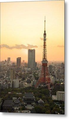 Sunset Tokyo Tower Metal Print