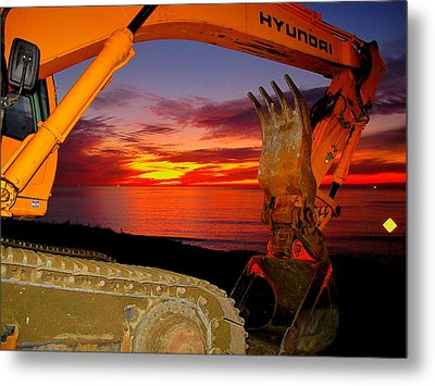 Metal Print featuring the photograph Sunset Tool by John King