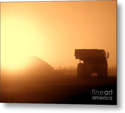 Sunset Truck Metal Print by Olivier Le Queinec