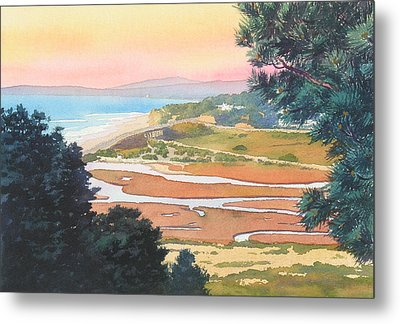 Sunset View From Torrey Pines Metal Print