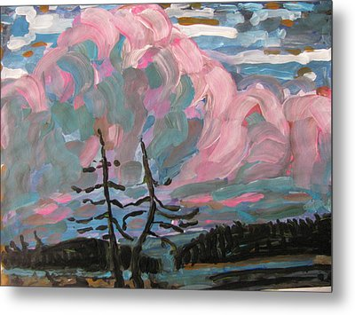 Metal Print featuring the painting Sunset by Vikram Singh