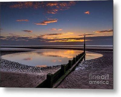 Sunset Wales Metal Print by Adrian Evans