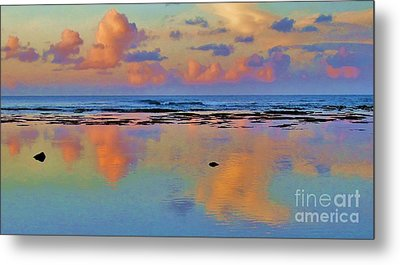 Sunset Water Color Metal Print by Michele Penner