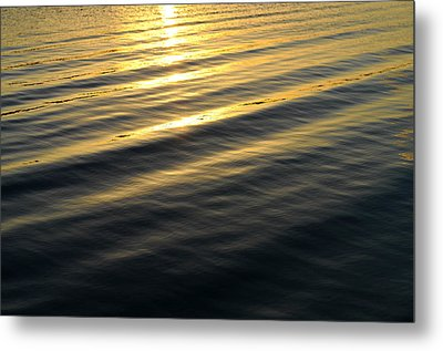 Sunset Waves Metal Print by Laura Fasulo