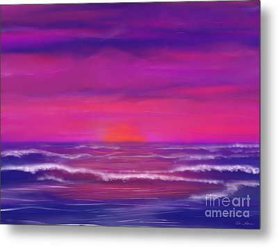 Sunset Winds Metal Print by Roxy Riou