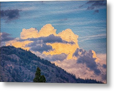 Sunset With A Smile Metal Print by Omaste Witkowski