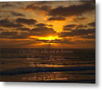 Sunset With Prayer Metal Print by Sharon Soberon