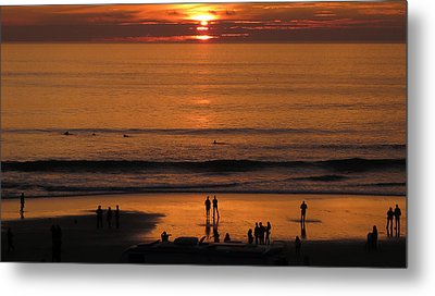 Sunset Worship Metal Print