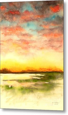 Sunset Metal Print by Yoshiko Mishina