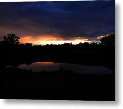 Sunsets Reflection Metal Print by Linda Brown
