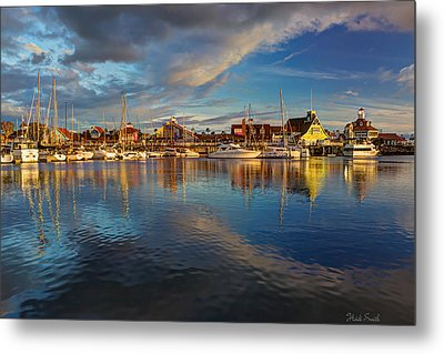Sunset's Warm Glow Metal Print