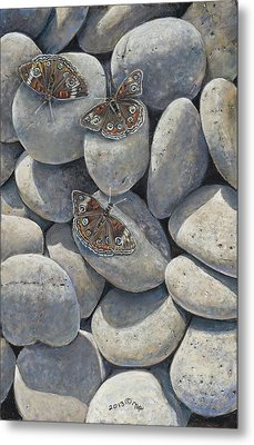 Sunshine And Butterflies Metal Print