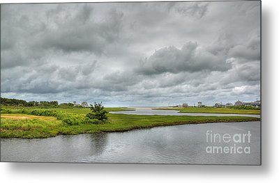 Sunshine And Heavy Clouds Over Dennisport Metal Print by Michelle Wiarda
