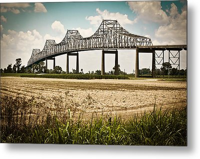 Sunshine Bridge Mississippi Bridge Metal Print