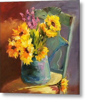 Sunshine In My Heart Metal Print by Donna Pierce-Clark