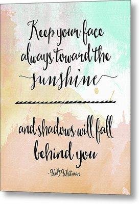 Sunshine - Walt Whitman Metal Print by Tara Moss