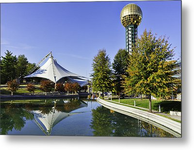 Sunsphere In The Fall Metal Print