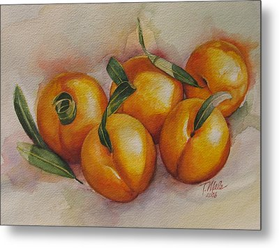 Sunstruck Peaches Metal Print by Tracy Male