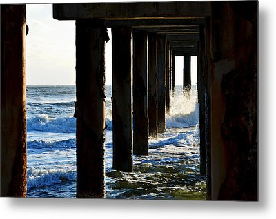 Sunwash At St. Johns Pier Metal Print by Anthony Baatz
