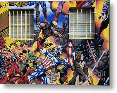 Super Heroes Albuquerque New Mexico Metal Print by Bob Christopher