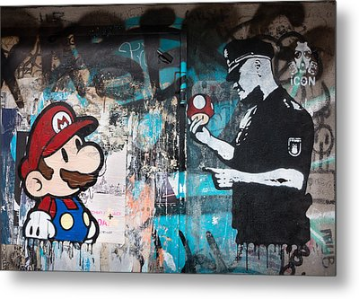 Super Mario Metal Print by Pedro Nunez