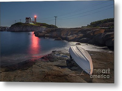 Super Moon Over Nubble Metal Print by Scott Thorp