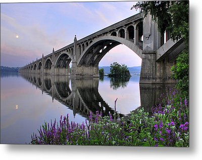 Super Moon Over The Susquehanna Metal Print by Dan Myers