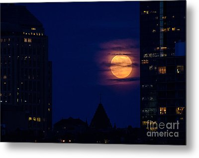 Metal Print featuring the photograph Super Moon Rises by Mike Ste Marie
