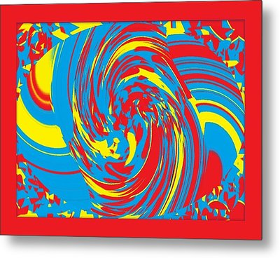 Metal Print featuring the painting Super Swirl by Catherine Lott