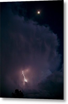 Supercell Moon Metal Print