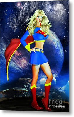Supergirl Metal Print