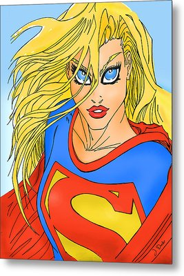 Supergirl Metal Print by Mark Rogan