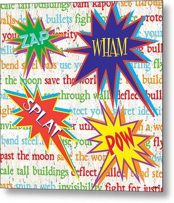 Superhero 1 Metal Print by Debbie DeWitt