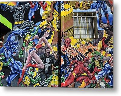 Superhero Wall Art Albuquerque Metal Print by Bob Christopher