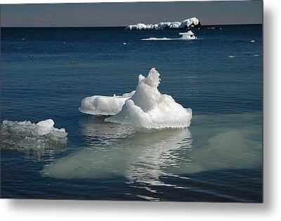 Metal Print featuring the photograph Superior Blues And Ice by Sandra Updyke