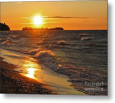 Metal Print featuring the photograph Superior Sunset by Ann Horn